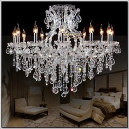 Best Crystal Chandeliers: Best selling clear crystal chandelier Deckenleuchten big glass cristal  chandelier light fitting with 13 lights D980mm H750mm best crystal  chandeliers europe ...,Lighting