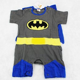 Wholesale Superman rompers batman rompers Boy T Shirt Baby romper Children clothing cut baby clothes retail