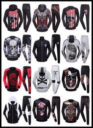 PP conjunto de treino Sweat Suit Homens Casual Sports Philipplein Homem Tracksuit Jacket Sportswear Moletons Jogging Casacos com capuz Hoodies Boy
