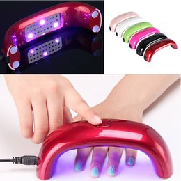 Wholesale Mini Nail Lamp LED Nail Lamps Professional W V LED Light Lamp Gel Nail Polish Nail Dryer Led Rainbow Lamp For Nail Art Tools