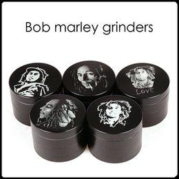 Wholesale 2016 Bob Marley Grinder de aleación de zinc Molinillos de hierba capas de mm a base de plantas Molinillos Molinillos de metal de tabaco Molinillos Molinillos sharpstone