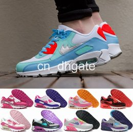 Discount Shoes Run Air Max 2016 Hot Sale Max 90 High Quality Women Running Shoes Fashion Girls Sports Max90 Breathable Training Shoe Size 40-45 Air Free Shipping