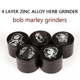 Wholesale De calidad superior Bob Marley Grinder de aleación de zinc Molinillos de hierba capas de mm a base de plantas Molinillos Molinillos de metal de tabaco Molinillos Molinillos sharpstone