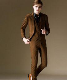 Discount Men Pant Coat Dark Brown | 2017 Men Pant Coat Dark Brown ...