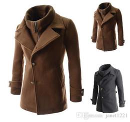Discount Mens Wool Dress Coats | 2017 Mens Long Wool Dress Coats