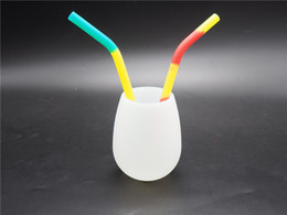 Soft Silicone Drinking milk tea Straws Unique Drinking Tube Party Bar Accessorie Random Color Celebration party Children's Non toxic