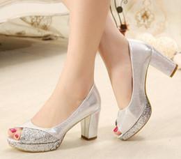 Silver Comfortable Heels