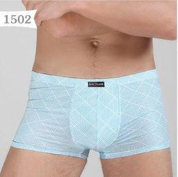 Wholesale men sexy transparent boxer underwear Men Erotic Homens See Through Boxers Roupa Interior Mens Boxer Shorts