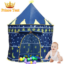 2017 great games Wholesale-Great Gift Large Blue Prince Tent Cute Kids Game House Child Beautiful Play Tent Pretty Indoor And Outdoor Baby Tent ,ZP2012 cheap great games