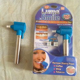 Wholesale Newest Handheld Luma Smile Motor ABS Dental Bleaching Lamp Easy Tooth Polish Whitening Kit remove stains coffee wine tobacco tool DHL free