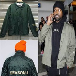 Wholesale 2016 new Kanye West Original yeezy men letter printing men fashion coats outerwear trench yeezus Top