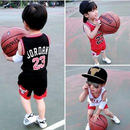 Wholesale Hot Sales Summer New Children Clothing Girls Boys Sports Suits baby Basketball Jersey Uniform Vest Shorts Sets Kids Clothes
