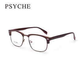 wholesale new oculos de grau vintage metal eyeglasses frame for women designer semi rimless glasses frame womens optical frames tr90