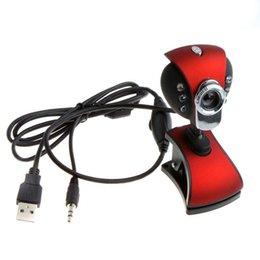 USB 2.0 50,0 M 6 LED Webcam Caméra Web Cam avec Micphone pour PC Ordinateur portable