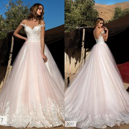 Pale Pink Lace Wedding Dress Online | Pale Pink Lace Wedding Dress ...
