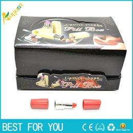 Wholesale 2015 whole sale New Secret Lipstick Shaped Stash Medicine Pill Pills Box Holder Organizer Case