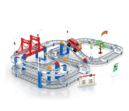 2015 new style hot sell children assembled electric multilayer large size rail car gift set racing track toys