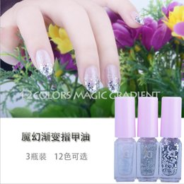 Wholesale SD magic gradient color nail polish bottles cocktail suit nontoxic nail polish