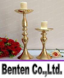Alto oro mentales Soportes de flores Boda 30cm / 48cm Mesa Centros para la decoración de bodas LLFA303