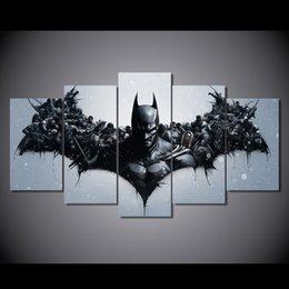 5 символов Панель HD Печатный фильм Batman Живопись Холст печати декор комнаты печать плаката картина холст Свободная перевозка груза