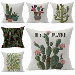 Plant Cactus Cushion Cover Green Home Decor Sofa Chair Bed Almofada 45cm Throw Pillow Case Fundas Cojines