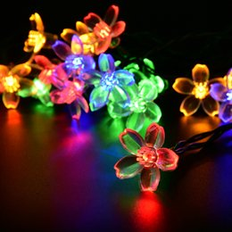 Outdoor Led Party Lights: Discount Wholesale Outdoor Led Party Lights Wholesale-LED Solar Powered Light  Outdoor Cherry Blossoms Garden,Lighting