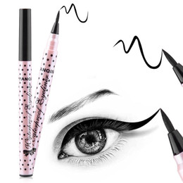 Wholesale 1 Black Long Lasting Eye Liner Pencil Waterproof Eyeliner Smudge Proof Cosmetic Beauty Makeup Liquid Eyeliner Pen