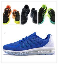 Discount Shoes Run Air Max 36-44 With original shoe box , 100% original blue black gray air mesh maxes 2015 man running shoes women maxes sneakers