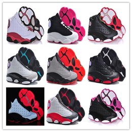 Wholesale 2016 kids china Retro Basketball Shoes Children J13s Boys and Girls Trainer Shoes Youth Basketball Sneakers Outdoor Cheap Sale