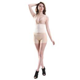 Wholesale Sexy Bodysuit Women Latex Waist Trainer Plus Size Hot Body Shaper Tummy Cincher Underbust Control Corset Shapewear Beige G2300