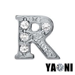 new type alphabet letter r crystal charms for bracelet floating lockets charms pendants diy living glass locket necklaces