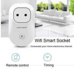 Origen Orvibo S20 Wi-Fi Smart Socket Smart enchufes UE, EE.UU., Reino Unido, AU Standard Power Socket Home Automatización funciona con Echo electrodomésticos