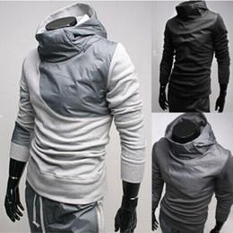 Wholesale New Fashion High collar Hoodies top brand men s clothes men s dust garment men outwear Sweatshirts Men s Clothing