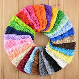 Wholesale 7cm Mini Baby Girl Crochet Tutu Tube Tops Chest Wrap Wide Crochet headbands Candy color clothes kids shirt elastic knit hair band