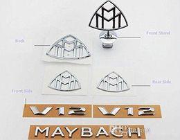 НОВЫЕ Весь набор Майбах Эмблемы Новый MAYBACH S600 S400 Резервное копирование и замена DHL освобождает перевозку груза