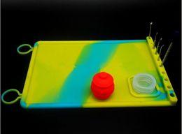 Nouveau résistant à la chaleur antiadhésive silicone tapis anti-dérapant mat dab cire extraits d'huiles personnalisées silicone tapis mat multi-usage
