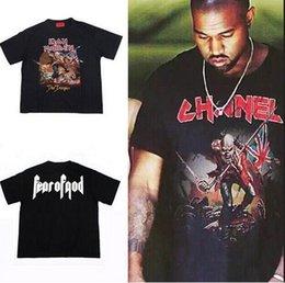 Wholesale swag hiphop clothes kpop streetwear fashion urban clothing summer tops oversized t shirt kanye iron maiden fear of god harajuku