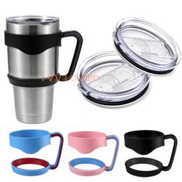 Poignée portable en plastique Poignée Tasses Porte-mains portatif pour YETI Rambler Tumbler 20 oz 30 oz Cups Rambler poignée et couvercle yeti tasse