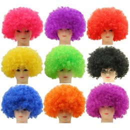 Clown Fans Carnival Wig Cosplay Circus Funny Fancy Dress Stage Joker Adult  Child Costume Hair Wig Festive Prop ZA4988 7a3f9a4fa2d5