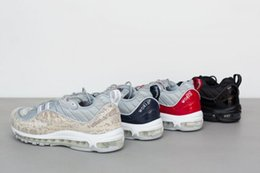 Discount shoes run air max Wholesale SUP X Lab Max Snakeskin NavyBlue VarsityRed NYC Black Running Shoes 1:1 Best Quality High Street Fashion AIR Sneakers