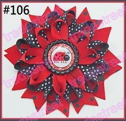 Wholesale bottle cap loopy hair bows Flower hair bow Loopy hair clips Girls hair clippied shopkin party