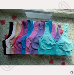 Wholesale 1000pcs CCA4160 High Quality Colors S XL Seamless Sports Bra Fashion Push Up Bra Ahh Bra Shaperwear Bra Seamless Sports Bra Yoga Bra