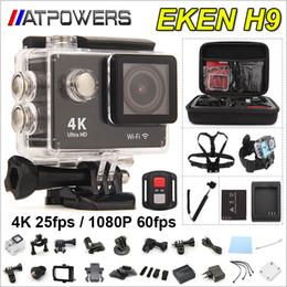 EKEN Remote-Action-Kamera Ultra HD 4K WiFi-Sport-Kamera 1080P / 60fps 2.0 LCD-170D Objektiv Helmet Cam gehen wasserdichte Pro Kamera