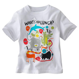 Wholesale Summer Cute Children Clothes Funny Cartoon Print Boys Tee Cotton Short Sleeve Top Casual Shirt Fashion Tshirt for Kids T Shirts Y