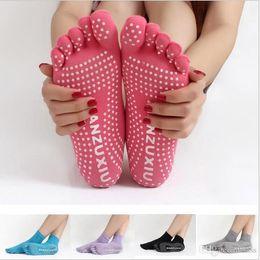 100pairs женщины Резина Йога Центр танцевального спорта Упражнения для некурящих Слип Массаж Фитнес теплые носки 5 носки ног
