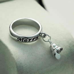 ornaments originality small bell merry the version of christmas ring woman tin alloy wedding sterling silver rings for women inexpensive small wedding rings - Small Wedding Rings