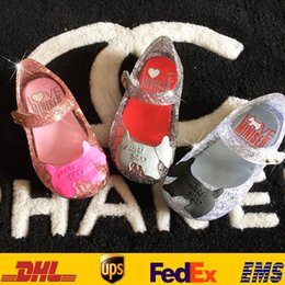 Wholesale Free DHL Cheap Baby Girls Mini Melissa Sed Campana Zig Zag Crystal Hollow Shoes Summer Children Toddler Cute Clog Sandal Jelly Shoes GD S04