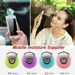 Wholesale 2016 Mini Facial Beauty Equipment Nano Moblie moisture Supplier Moisturizer Face Water Spray humidifier For iPhone Android Phone Factory DHL