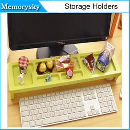 almacenamiento de oficina estante teclado de computadora de escritorio de múltiples funciones CALIENTE Plataforma Plataforma anti del polvo del arreglo de espacio provincia en stock 010265