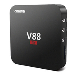 2017 full hd android V88 4K Android 5.1 Smart TV Box Rockchip 3229 4 USB WiFi Full Loaded Quad Core 1.5GHZ Media Player cheap full hd android